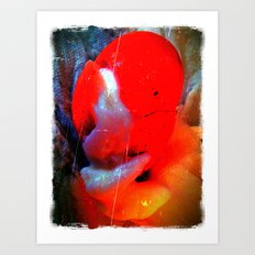 Sad Red Clown Art Print