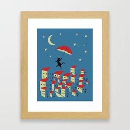 Upton The Cat And His Evening Adventures Framed Art Print