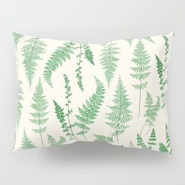 Ferns on Cream I - Botanical Print Pillow Sham