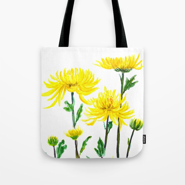 yellow chrysanthemum Tote Bag