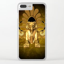 Anubis, the egyptian god Clear iPhone Case