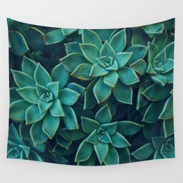 Succulents Pattern (Color) Wall Tapestry