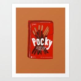 Pocky Art Print