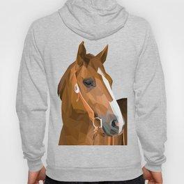 Brown Horse Lowpoly Art Illustration Hoody