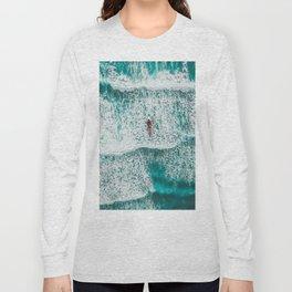 Girl Surfing Long Sleeve T-shirt