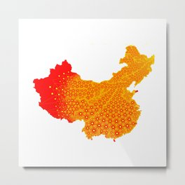 Chinese Gold Metal Print