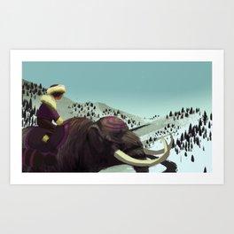 Mastodon Art Print