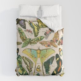 Vintage Butterfly Print Comforters