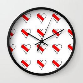 flag of strasbourg 2 Wall Clock