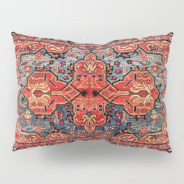 Kashan Poshti Central Persian Rug Print Pillow Sham