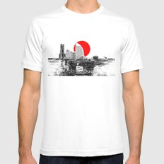 Modern Japan - Yokohama 2 Mens Fitted Tee White MEDIUM