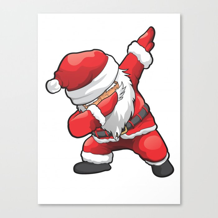 Merry Christmas Funny Images.Funny Dabbing Santa Merry Christmas Canvas Print By Dihart
