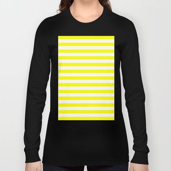 Horizontal Stripes (Yellow/White) Long Sleeve T-shirt