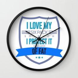 Fat Joke Funny Excuses Food Lover Big Belly Design Wall Clock