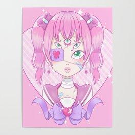 Sickly Quintclops Girl Poster