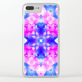 Crystal Flowers Mandala Clear iPhone Case