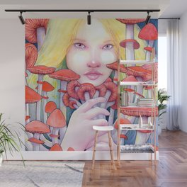 Keeper of the Scarlet Garden Wall Mural