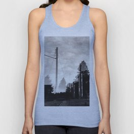 Ghostly Lines Unisex Tank Top