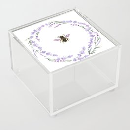 Lavender Bee Acrylic Box