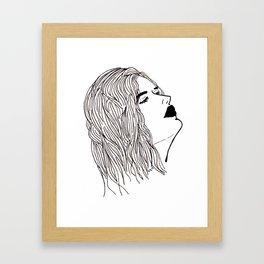 Chin Up Framed Art Print