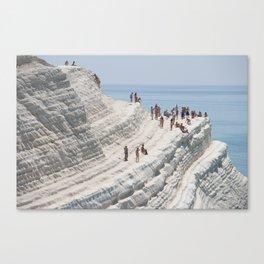 Rocky cliff Scala dei Turchi, Sicily, Italy Canvas Print
