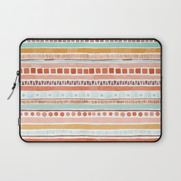 Boho Stripes - Watercolour pattern in rusts, turquoise & mustard. Nursery print Laptop Sleeve