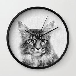 Main Coon Portrait Wall Clock