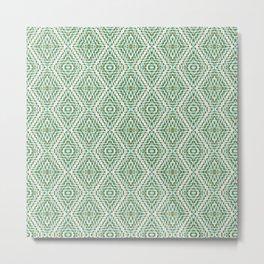 SW Pattern in Green Metal Print