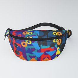 Abstract Geometric Shapes - Multi Coloured Fanny Pack