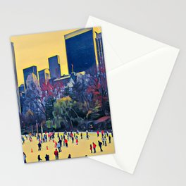 Winter in Central Park Stationery Cards