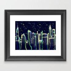 Dusk Falls Over Manhattan Framed Art Print