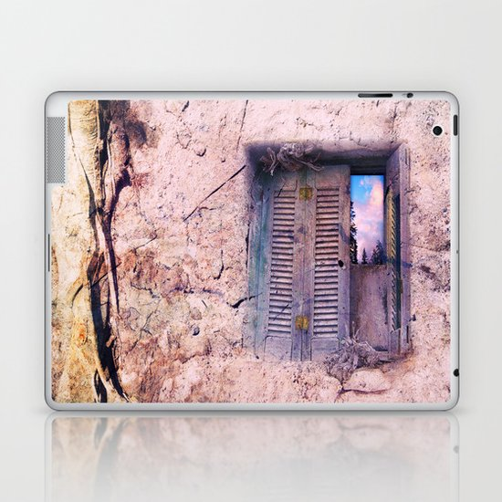 SOUL WINDOW - conceptual composing with old wall and open window Laptop & iPad Skin