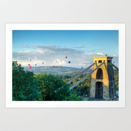 Adrift Over Bristol Art Print