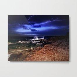 Stormy Shores Metal Print