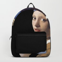 Girl With a Pearl Earring being Badass - Johannes Vermeer Backpack