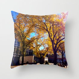 Sir Winston Churchill Square Fall Elms Throw Pillow