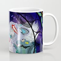 ursula Mugs featuring Ursula by Mazuki Arts