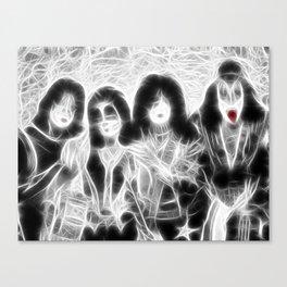 Magical KISS rock group Canvas Print