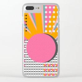 Memphis sunshine Clear iPhone Case