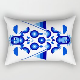 Libra in Blue Rectangular Pillow