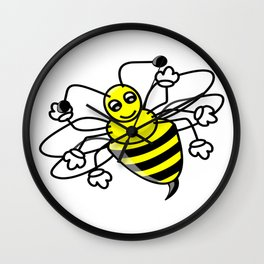 100 Days of School Survived 100 Days of Me bee Wall Clock