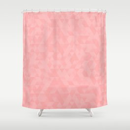Pastel Millennial Pink Geometric Pattern Shower Curtain