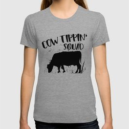 Funny Cow Tipping Design T-shirt