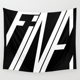 Fine, Be A Square Wall Tapestry
