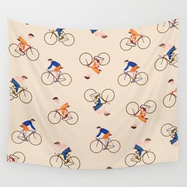 Bike Pattern Wall Tapestry