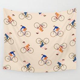 Bike Pattern Wall Tapestry