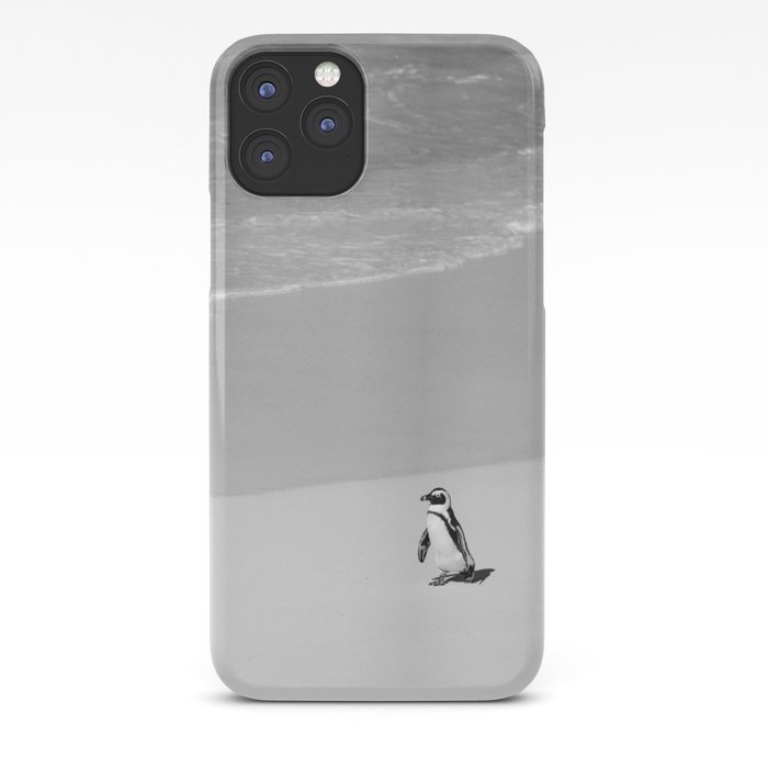 Lone African Penguin walking on beach iPhone Case