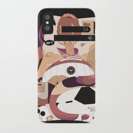 The search for my puppy iPhone Case