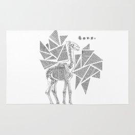 Skeletal Giraffe Rug