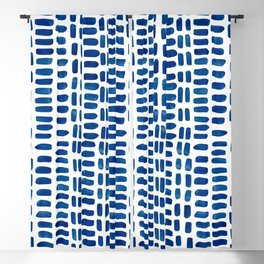 Abstract rectangles - dark blue Blackout Curtain